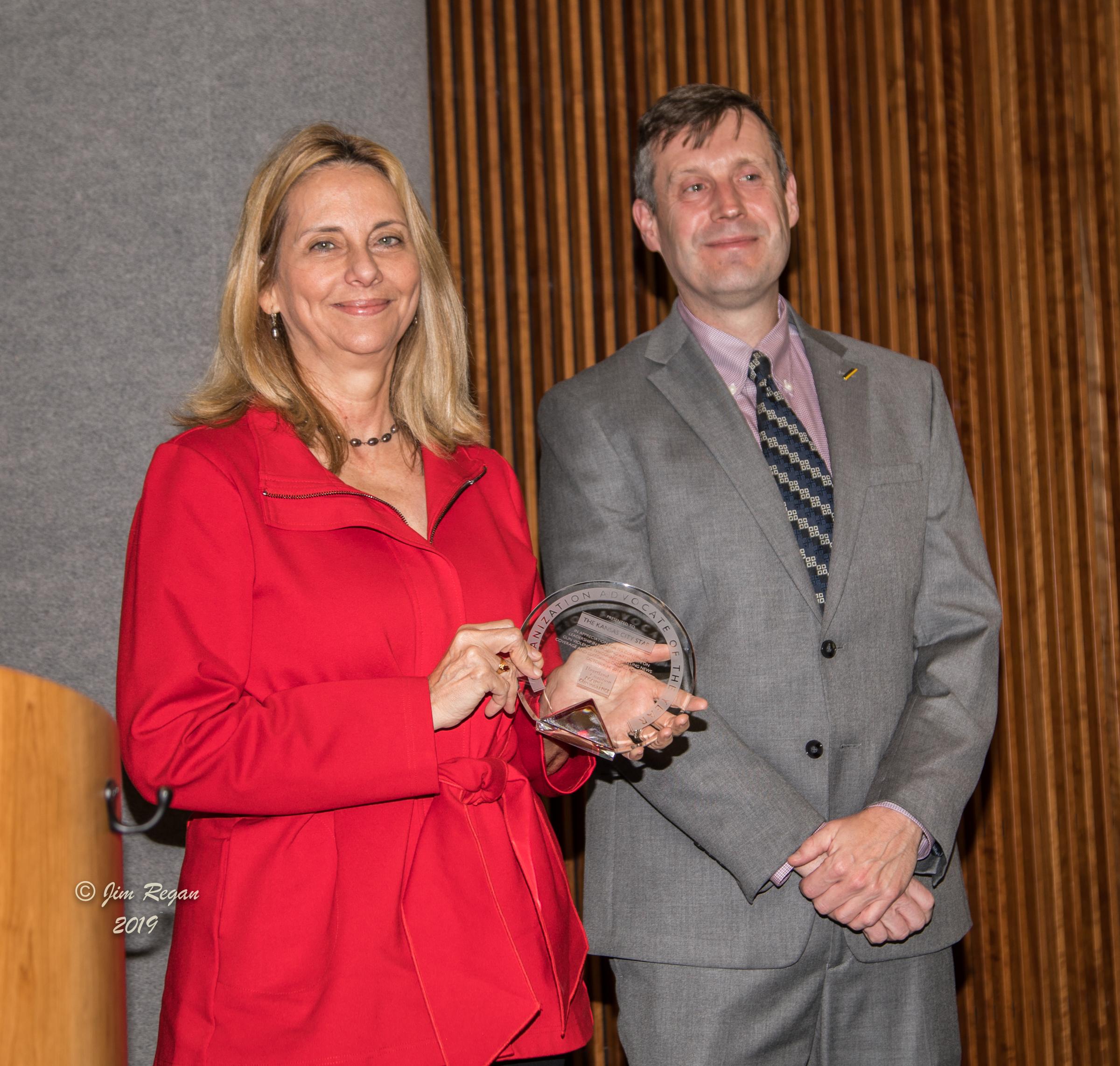 Melinda Henneberger and Derek Donovan for The Kansas City Star Organization Advocates of the year